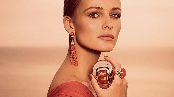 Эдита Вилкевичуте в рекламе аромата Omnia Indian Garnet