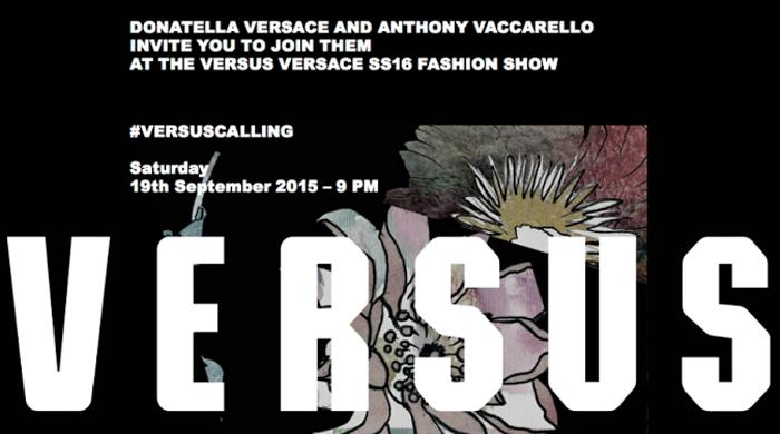 Прямая трансляция показа Versus Versace, весна-лето 2016