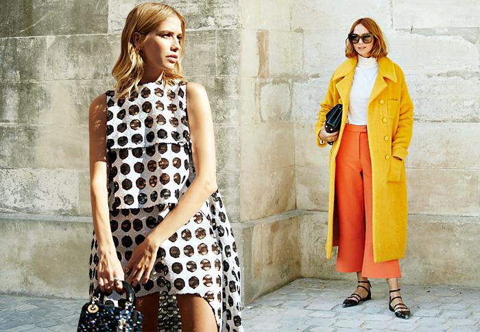 Неделя моды в Париже, весна-лето 2016: street style. Часть 2