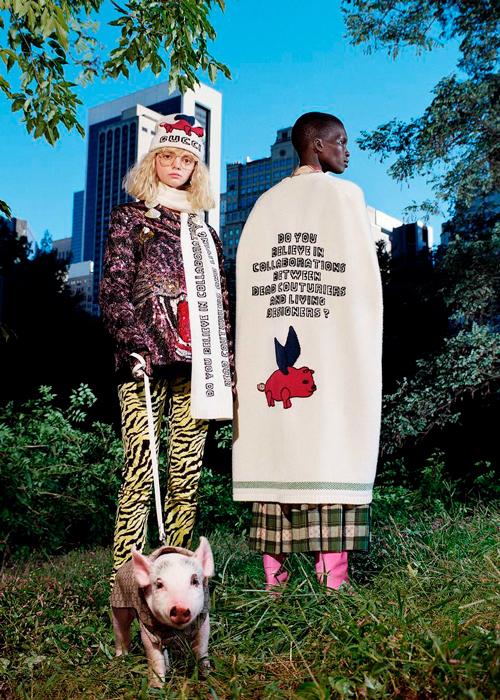 Три поросенка: Gucci сделали съемку со свиньями 5